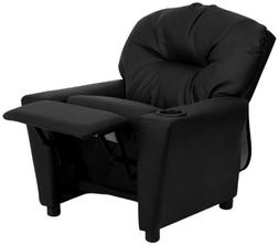 Flash Furniture Bt-7950-kid-bk-lea-gg Contemporary Black Lea