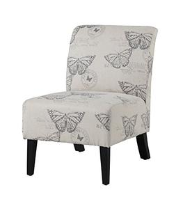 Butterfly Lily Side Chair, Side Chair, Linen, Modern, Armles