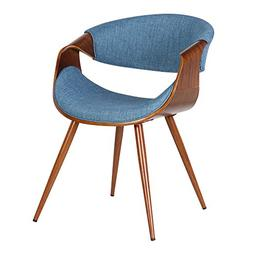 Armen Living LCBUCHWABL Butterfly Dining Chair in Blue Fabri