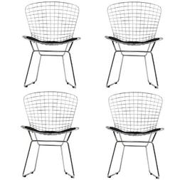 Modway Cad Dining Chairs Set Of 4 In Black