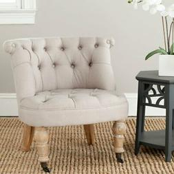 Safavieh Carlin Tufted Chair - Taupe