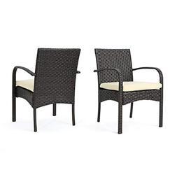 Great Deal Furniture  Carmela Outdoor Multibrown PE Wicker D
