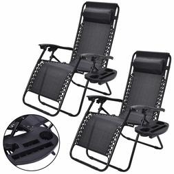 Chairs Zero Gravity Lounge Patio Outdoor Beach Folding Recli