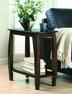Coaster Home Furnishings Chairside Table with Bowed Legs and