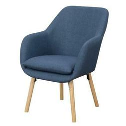 Convenience Concepts Charlotte Accent Chair in Blue Linen Fa