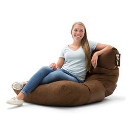 Big Joe Chocolate Roma in Comfort Suede Plus Bean Bag, Multi