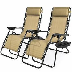 Best Choice Products Set of 2 Adjustable Zero Gravity Lounge