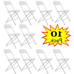 Commercial White Plastic Folding Chairs Stackable Wedding P