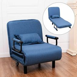 Giantex Convertible Sofa Bed Modern Folding Arm Chair Sleepe