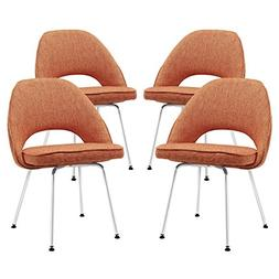 Cordelia Dining Chair by Modway - Set of 4 Orange