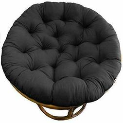 Cotton Chair Pads Craft Papasan Cushion Black, Pure 100% Duc