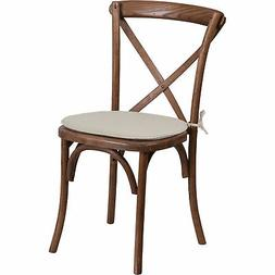 Flash Furniture Cross Back Stackable Chair with Cushion Peca