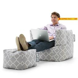 Remarkable Big Joe Cube W Ottoman In Smartmax Gra Onthecornerstone Fun Painted Chair Ideas Images Onthecornerstoneorg