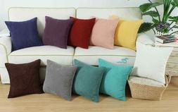 CaliTime Cushion Covers Pillows Cases Shell Soft Corduroy Co