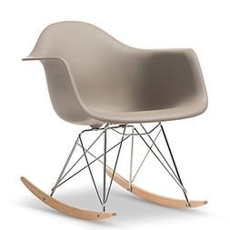 Baxton Studio Dario Plastic Mid-Century Modern Shell Chair,