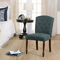 HomePop Delilah Tufted Dining Chair, Teal