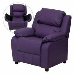 Flash Furniture Deluxe Heavily Padded Vinyl Kids Recliner wi