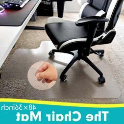 Desk Chair Mat for Carpet- Pile Carpet PVC Vinyl Floor Prote