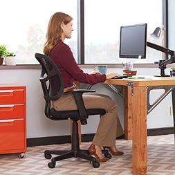 Desk Chair With Wheels Mid Back Black Mesh Office Chair Furn
