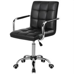 Desk Chairs 360° Swivel Modern PU Leather Adjustable Execut