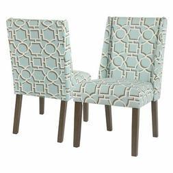 HomePop Dinah Modern Lattice Dining Chair - Set of 2