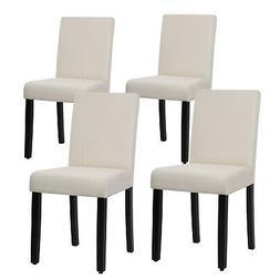 Dining Chairs Set of 4 Elegant Design Modern Fabric Upholste
