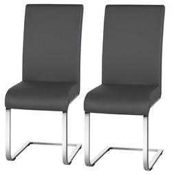 Dining Chairs Modern PU Leather Dining Room Chairs Metal Hom