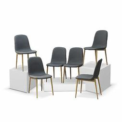 Dining Leisure Chair Metal Legs Fabric Seat For Dining Room
