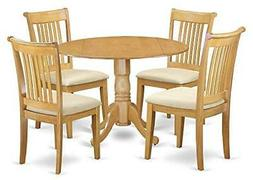 East West Furniture Dining Table with Chair in Oak