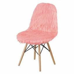 FLASH FURNITURE DL-12-GG Chair,Shaggy Dog,Hermosa Pink