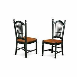 East West Furniture DOC-BCH-W Dining Room Chairs, Medium, Bl