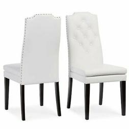 Baxton Studio Dylin Modern & Contemporary Faux Leather Butto