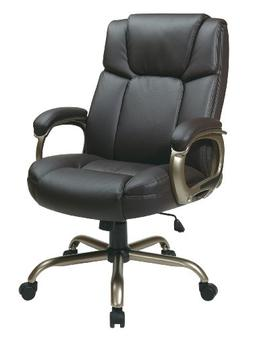 Office Star ECH Series Executive Eco Leather Chair in Espres