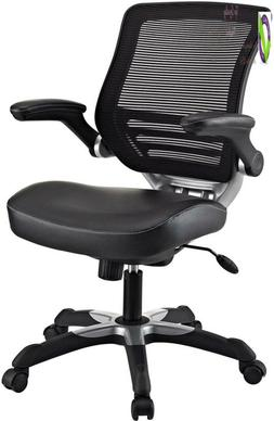 Modway Ed Mesh Back And White Vinyl Seat Office Chair With F