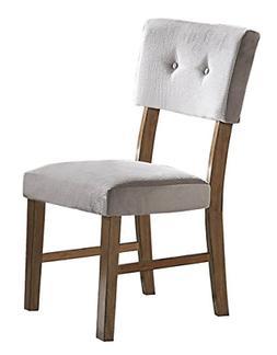 Homelegance Edam Upholstered Dining Side Chair, Set of 2, Gr