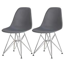 Porthos Home EFC026A Gry Dining Chair Durable Plastic Finish