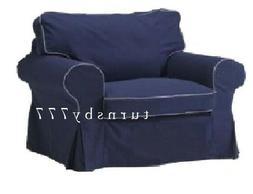 IKEA Ektorp Chair Slipcover Ektorp Idemo Dark Blue Armchair