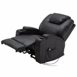 Electric Lift Recliner Chair Heated Massage with Remote Cont