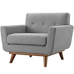 Modway  Engage Mid-Century Modern Upholstered Fabric Accent