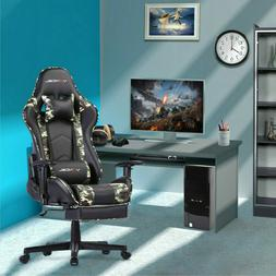 Ergonomic Computer Gaming Chair with Footrest  Lumbar Massag