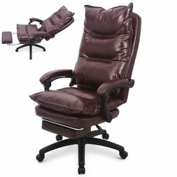 Ergonomic Executive PU Leather Office Desk Sofa Chair w/ Lum
