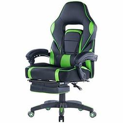Ergonomic Gaming Chair, High-Back Racing PU Leather With Ret