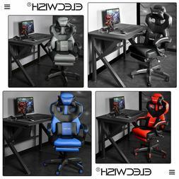 Swivel Racing Gaming Office Chair Ergonomic Recliner PU Seat