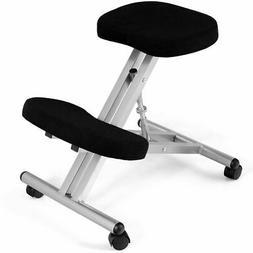 Ergonomic Kneeling Chair Rolling Padded Seat Adjustable Heig