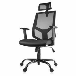 Ergonomic Mesh Office Chair - Adjustable Headrest, 3D Flip-u