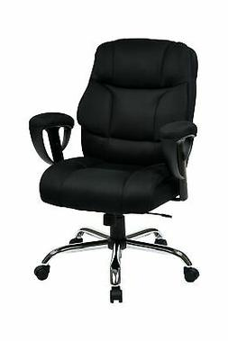 Office Star Executive Big Man's Chair with Padded Mesh Conto