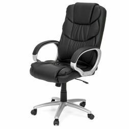 Executive Ergonomic PU Leather Chair Black Work High Back Of