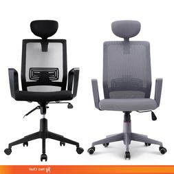 Executive Home Office High Back Mesh Chair with Headrest