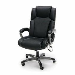 Executive Office Chair in Black Softthread Leather w/Heated