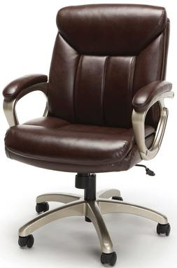 Executive Office Task Chair in Brown Softthread Leather with